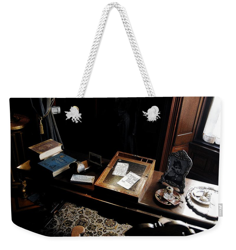 Victorian Era Weekender Tote Bag featuring the painting Victoria's Secret by David Lee Thompson