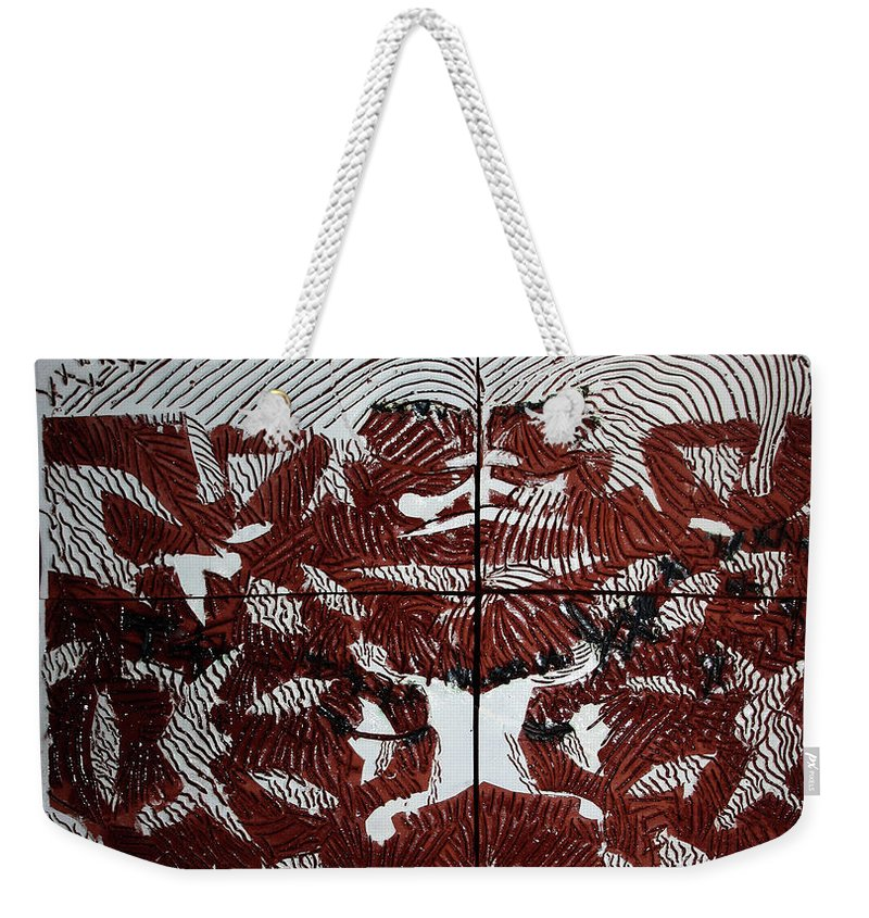 Mama Africa Twojesus Weekender Tote Bag featuring the ceramic art Victory by Gloria Ssali