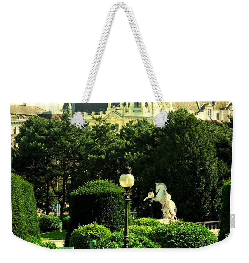 Vienna Weekender Tote Bag featuring the photograph Vienna Park by Ian MacDonald