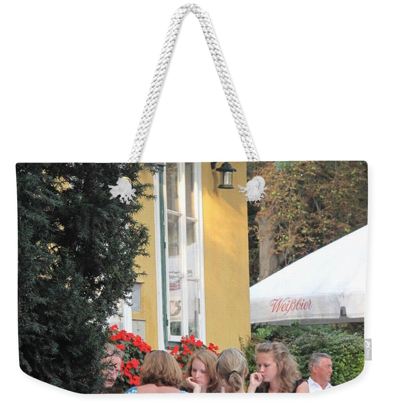 Vienna Weekender Tote Bag featuring the photograph Vienna Restaurant In The Park by Ian MacDonald