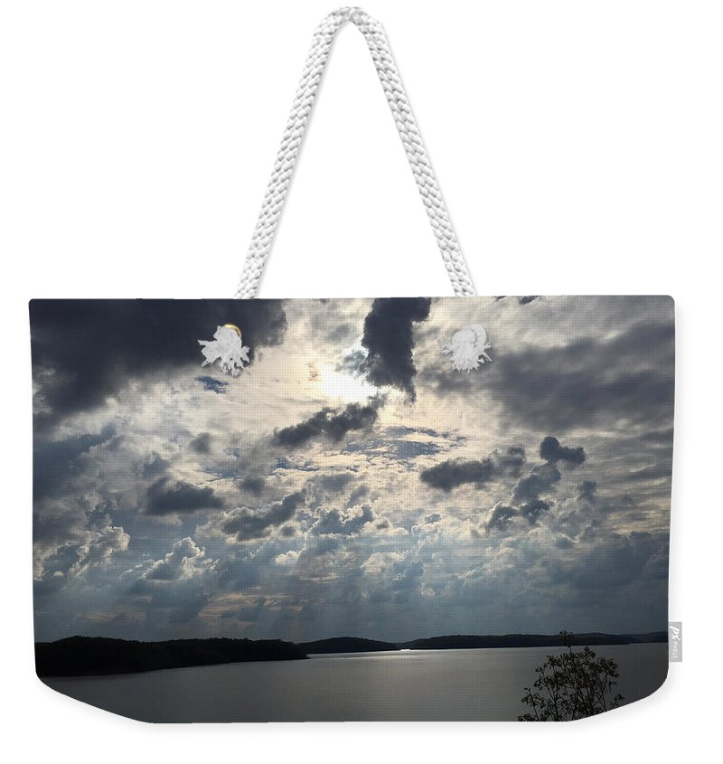 Wappapello Lake Weekender Tote Bag featuring the photograph View Across Wappapello Lake IIi by James Pinkerton