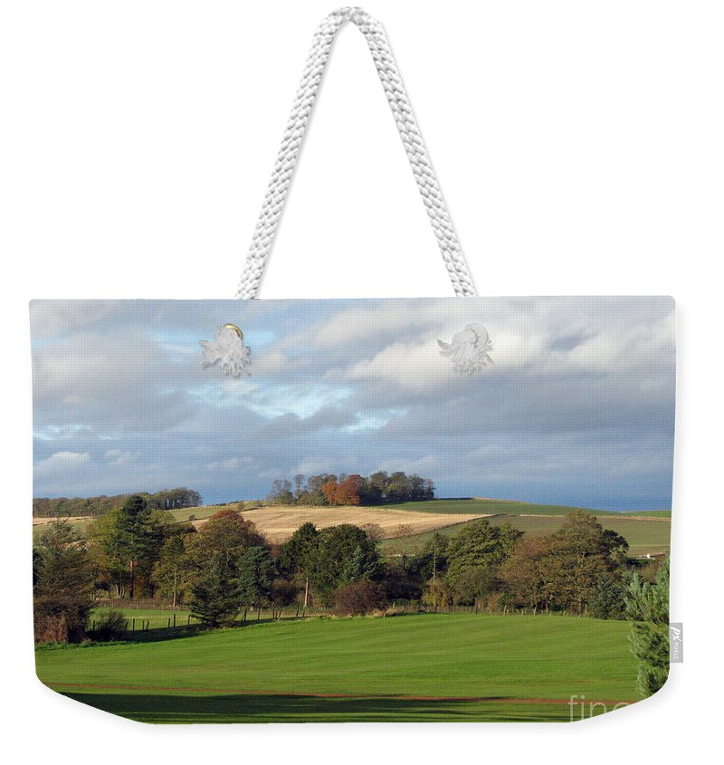 Scotland Weekender Tote Bag featuring the photograph View At The Dalmahoy by Amanda Barcon