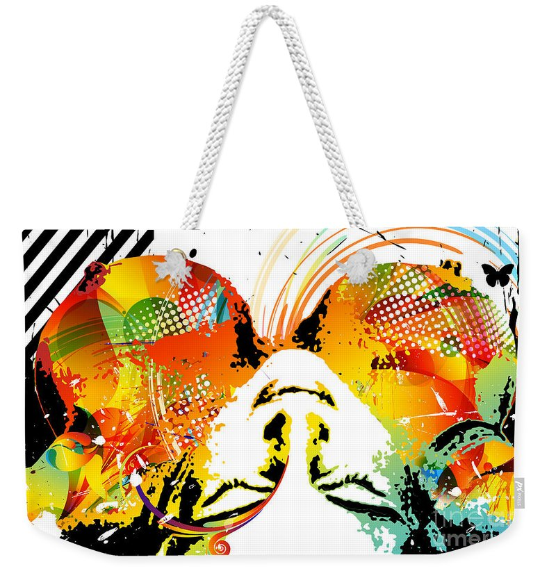 Nostalgic Seduction Weekender Tote Bag featuring the digital art View From Above by Chris Andruskiewicz