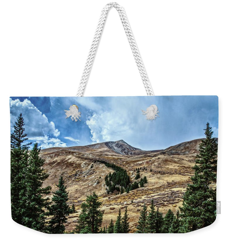 Colorado Weekender Tote Bag featuring the photograph View From Guanella Pass Road by Mike Braun