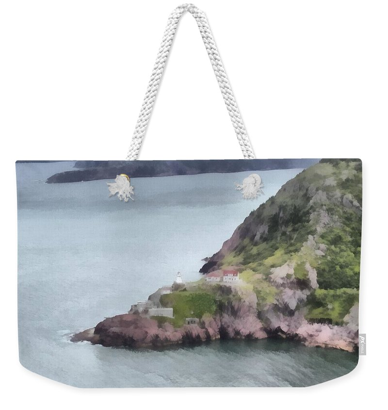 Canadian Weekender Tote Bag featuring the painting View From Signal Hill by Jeffrey Kolker