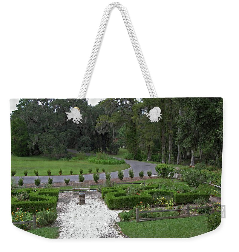 Plantation Weekender Tote Bag featuring the digital art View From The Porch by DigiArt Diaries by Vicky B Fuller