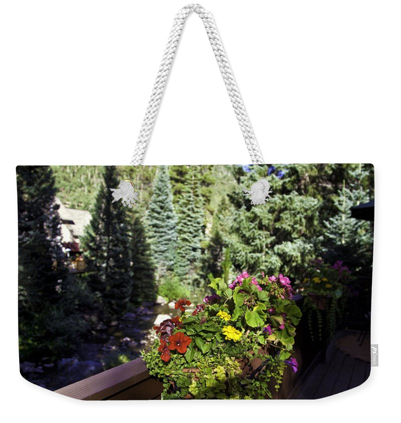 Vail Weekender Tote Bag featuring the photograph View From Vail House by Madeline Ellis