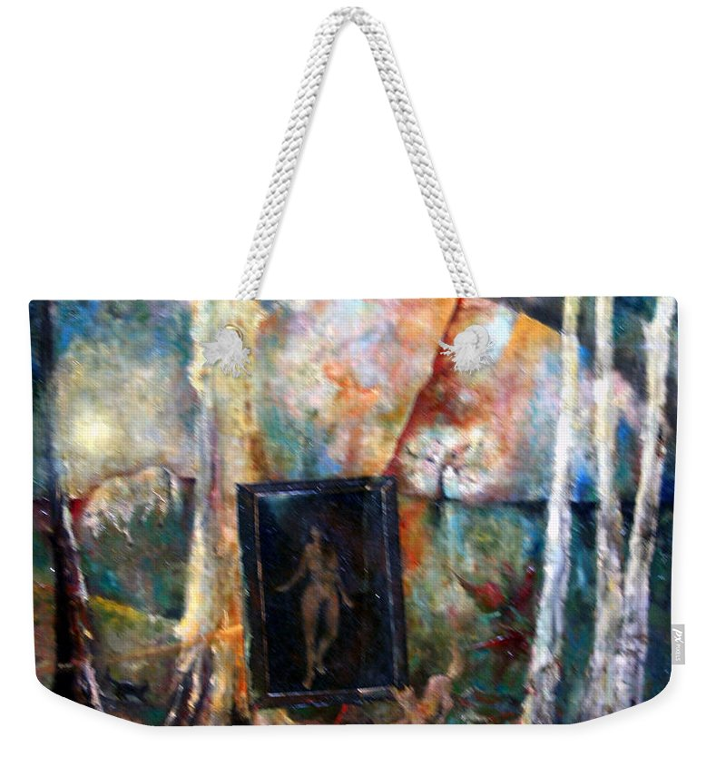 Colour Weekender Tote Bag featuring the painting View From Window by Wojtek Kowalski