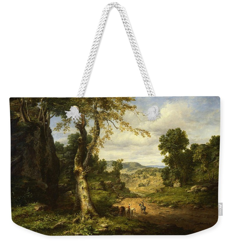 George Inness Weekender Tote Bag featuring the painting View In Berkshire County, Massachusetts, Clearing Off After A September Storm by George Inness