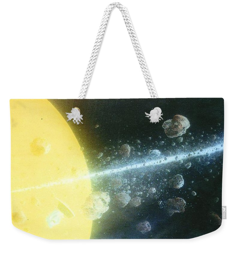 Spacescape Weekender Tote Bag featuring the painting View Master by A Robert Malcom