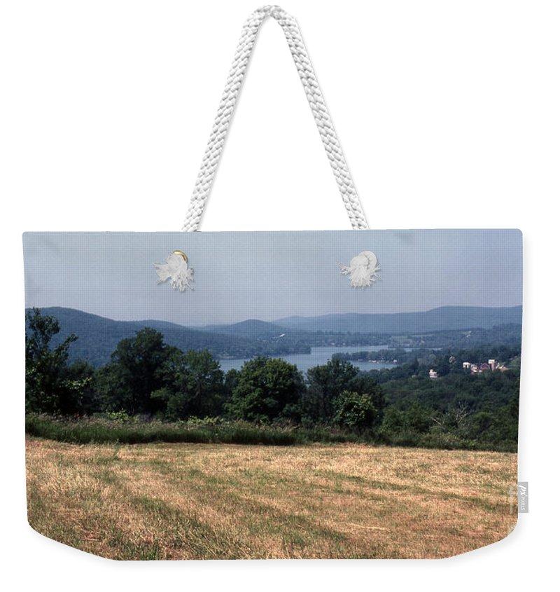 Lake Waramaug Weekender Tote Bag featuring the photograph View Of Lake Waramaug by Richard Rizzo