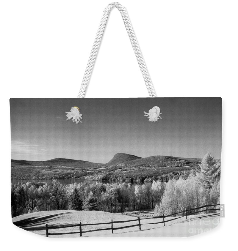 Landscape Weekender Tote Bag featuring the photograph View Of Lake Willoughby by Richard Rizzo