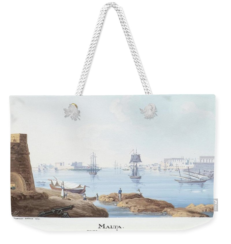 Zerilli Weekender Tote Bag featuring the painting View Of Malta by Francesco