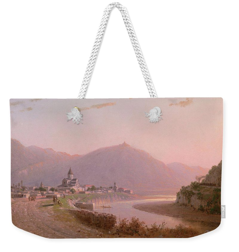 Vereschagin Weekender Tote Bag featuring the painting View Of Mtskheta by MotionAge Designs