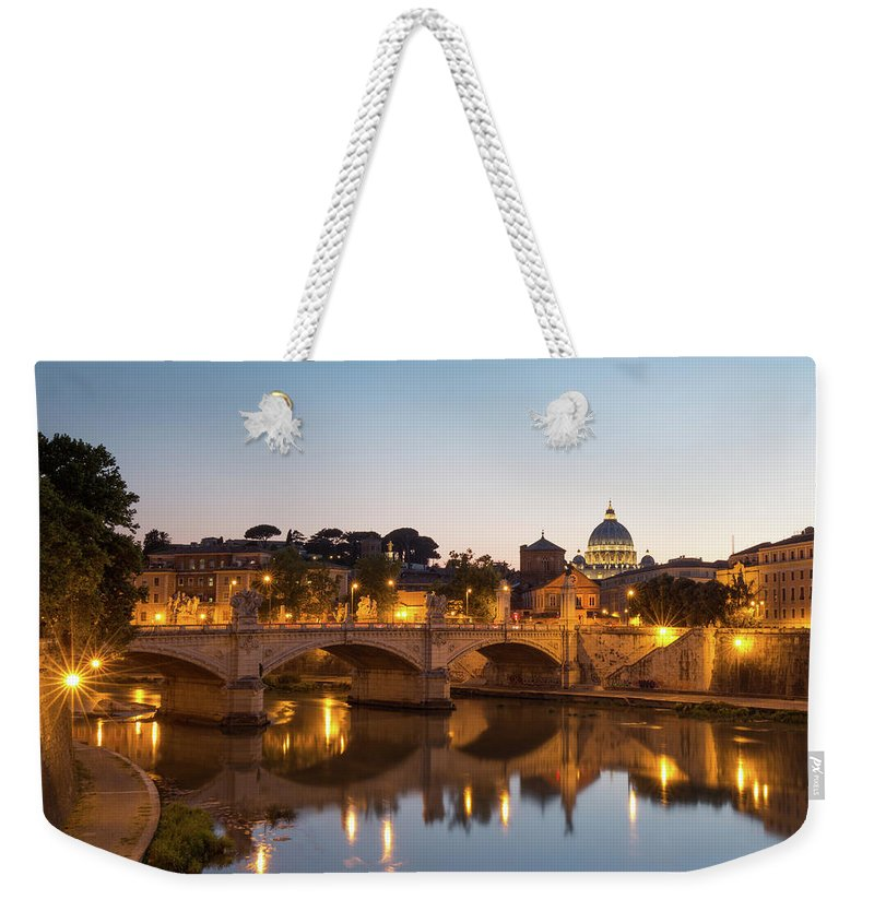 Rome Weekender Tote Bag featuring the photograph View Of Rome by Rob Davies
