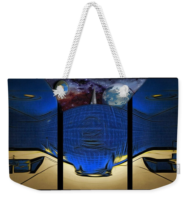 Digital Art Style Weekender Tote Bag featuring the digital art View Of Space From The Observatory by Mario Carini