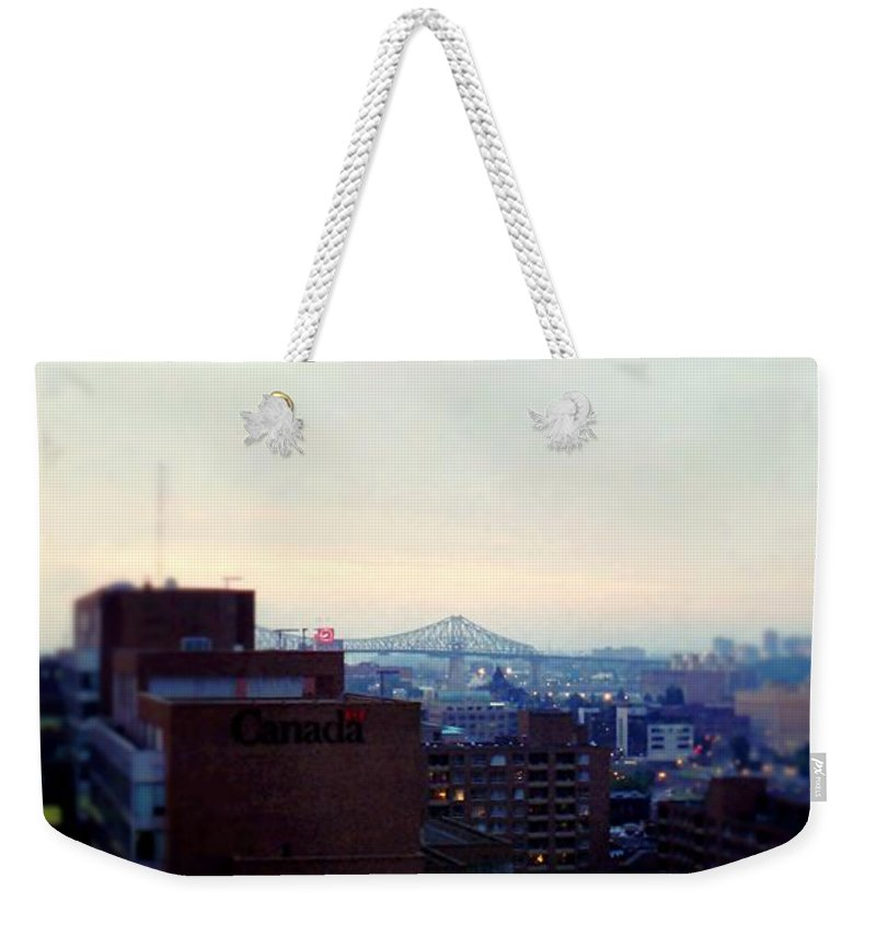 Fine Art Weekender Tote Bag featuring the photograph View Toward Saint Lawrence by Rodney Lee Williams