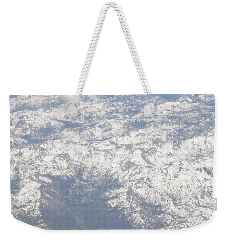 View Weekender Tote Bag featuring the photograph Views From The Sky by Terry Anderson
