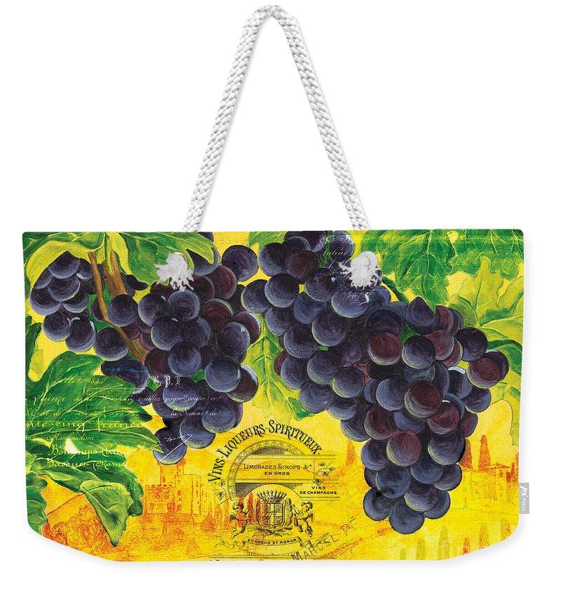 Grape Weekender Tote Bags