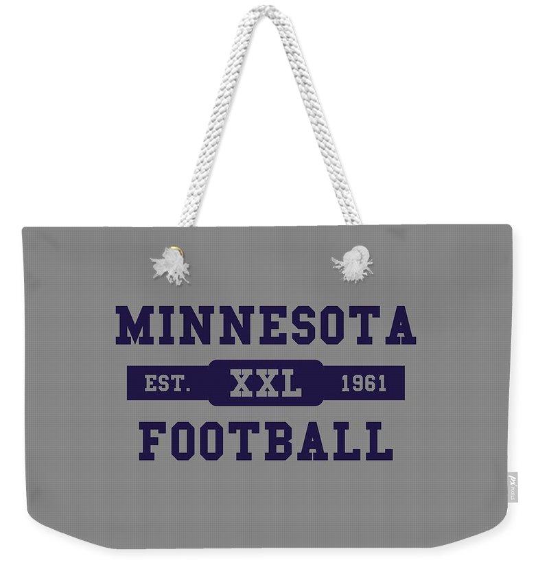Vikings Weekender Tote Bag featuring the photograph Vikings Retro Shirt by Joe Hamilton