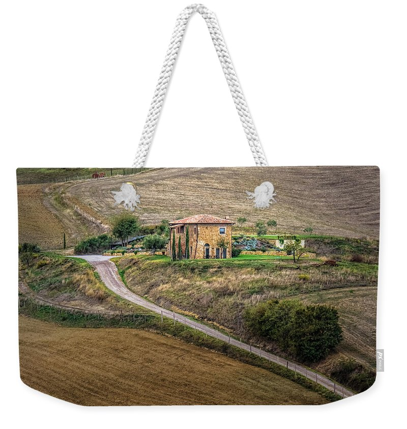 Street Photograph Weekender Tote Bag featuring the photograph Villa In Tuscany, Italy by Sanchez PhotoArt