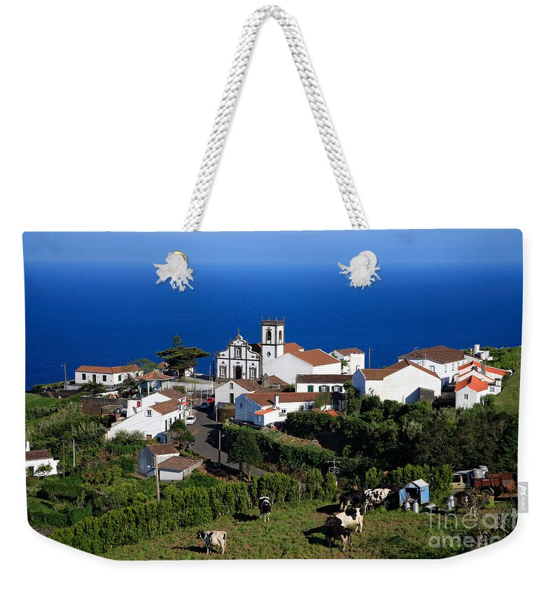 Azores Weekender Tote Bag featuring the photograph Village In The Azores by Gaspar Avila