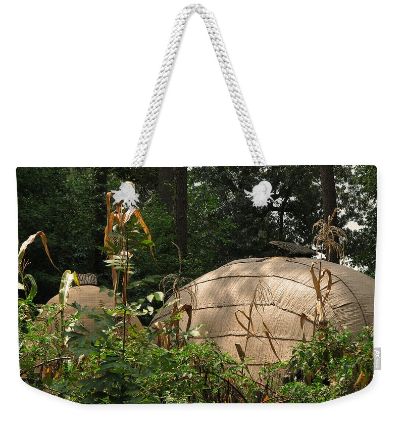 Native Weekender Tote Bag featuring the photograph Village by Peg Urban