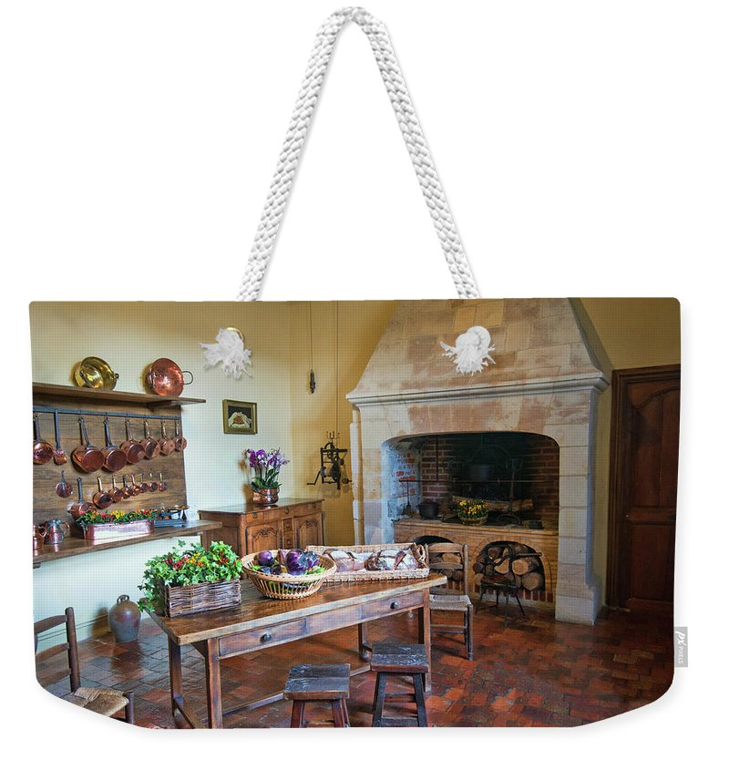 Villandry Weekender Tote Bag featuring the photograph Villandry, Loire, France, Kitchen by Curt Rush
