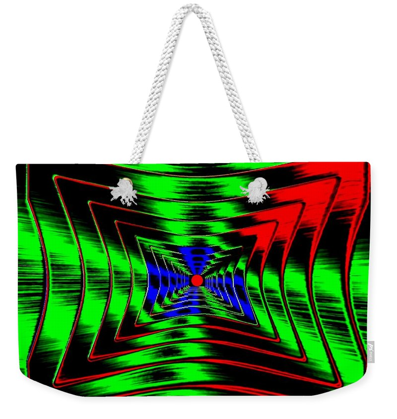Energizing Weekender Tote Bag featuring the digital art Vim And Vigor by Will Borden