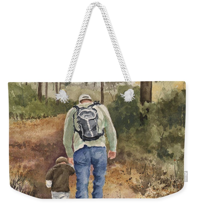 Walk Weekender Tote Bag featuring the painting Vince and Sam by Sam Sidders