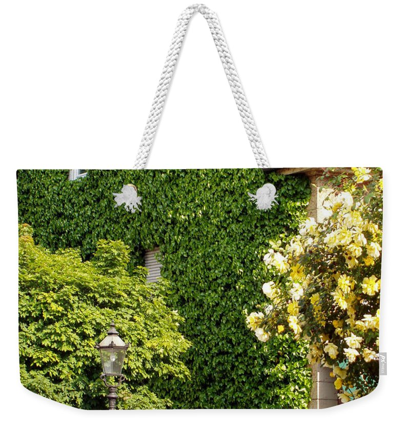 Building Weekender Tote Bag featuring the photograph Vine Cover by Deborah Crew-Johnson