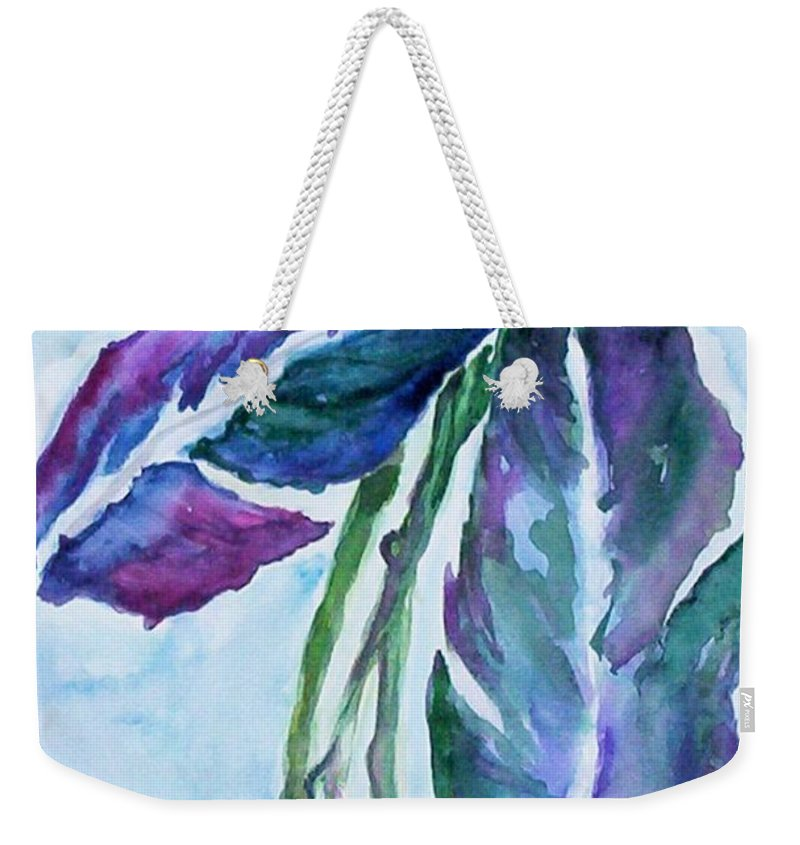 Landscape Weekender Tote Bag featuring the painting Vine by Suzanne Udell Levinger