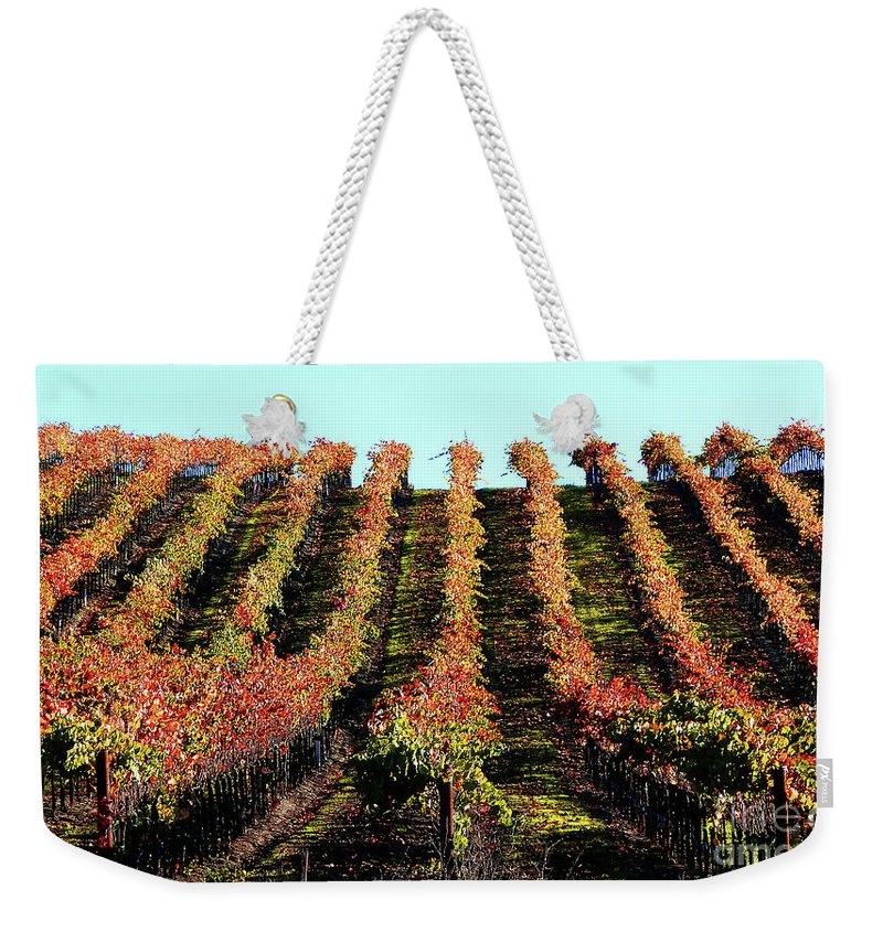 North California Napa Valley Wine Country Weekender Tote Bag featuring the photograph Vineyard 27 by Xueling Zou