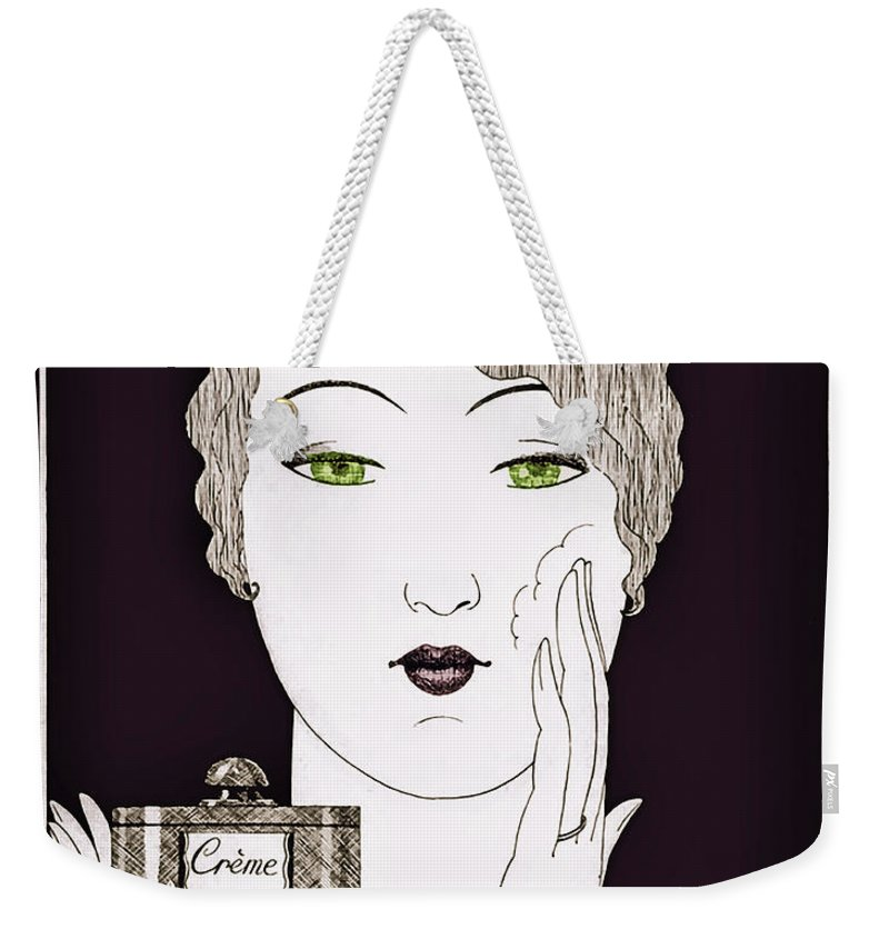 6284d4a9f0d Art Deco Weekender Tote Bag featuring the painting Vintage Art Deco Perfume  Glamour by Mindy Sommers