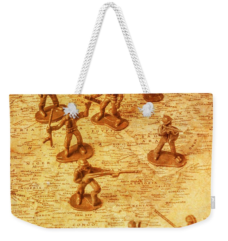 Strategy Weekender Tote Bag featuring the photograph Vintage Battlefront by Jorgo Photography - Wall Art Gallery