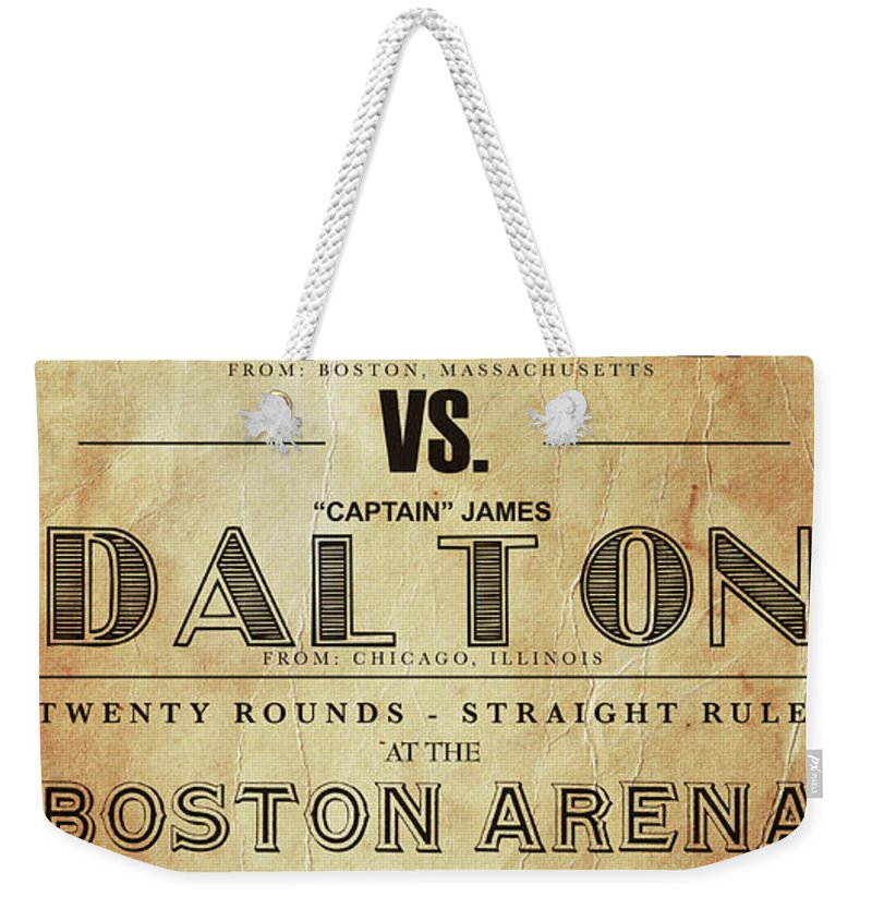 Vintage Boxing Poster John L Sullivan Vs James Dalton Weekender Tote Bag