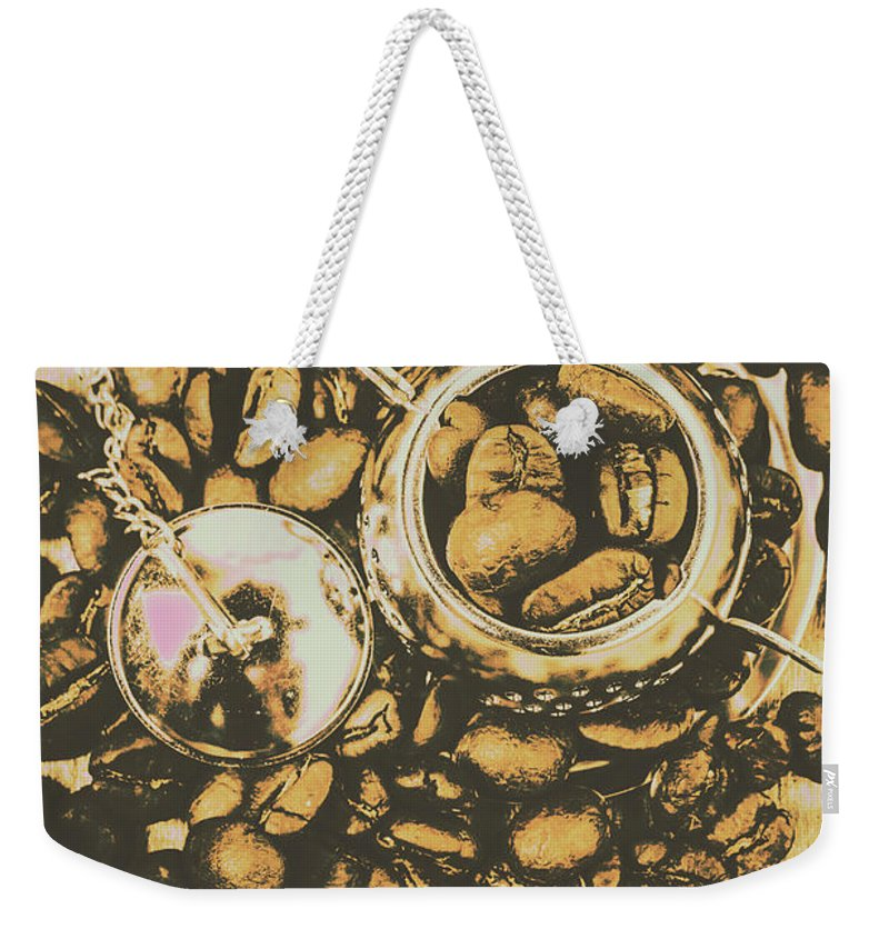 Drinks Weekender Tote Bag featuring the photograph Vintage Cafe Artwork by Jorgo Photography - Wall Art Gallery