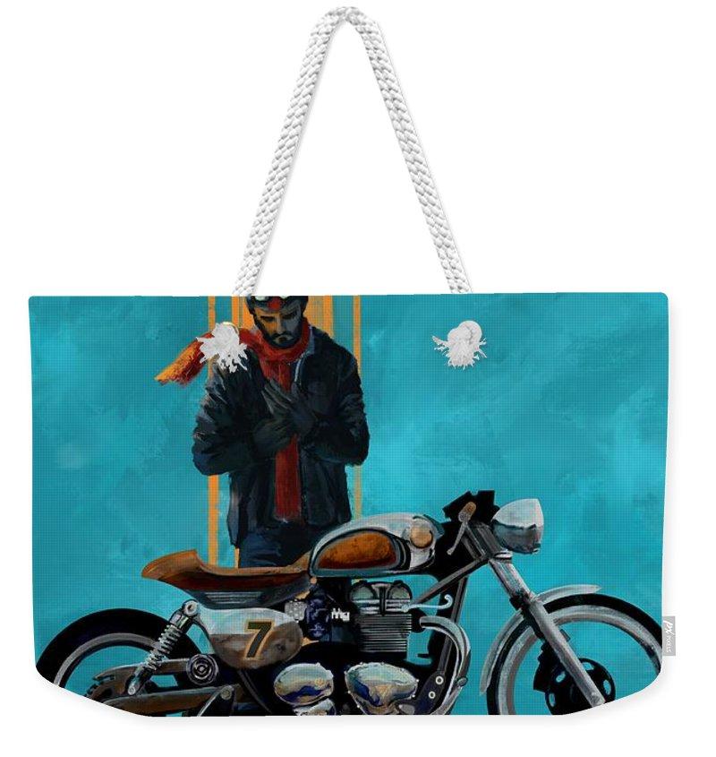 Cafe Racer Weekender Tote Bags