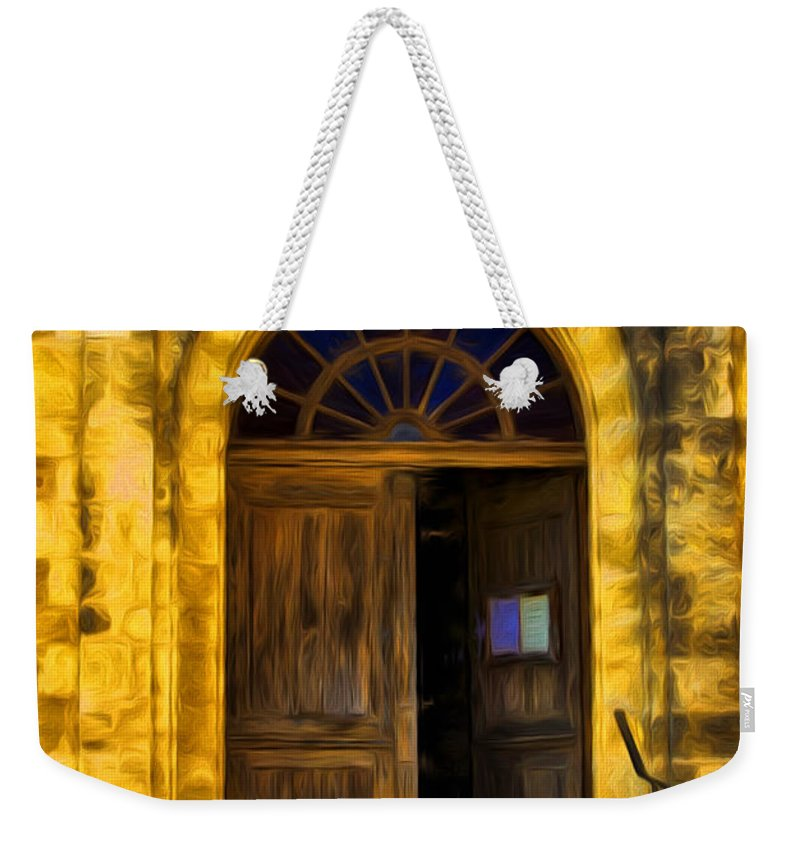 Vintage Entrance Weekender Tote Bag featuring the photograph Vintage Entrance by Georgiana Romanovna