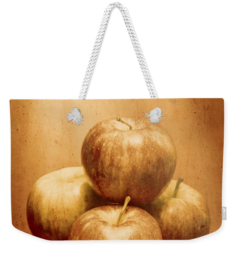 Vintage Weekender Tote Bag featuring the photograph Vintage Fruits by Jorgo Photography - Wall Art Gallery