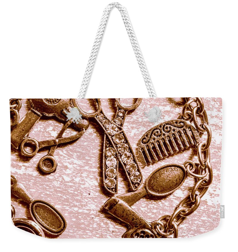 Grooming Weekender Tote Bag featuring the photograph Vintage Hairdressing Charm by Jorgo Photography - Wall Art Gallery