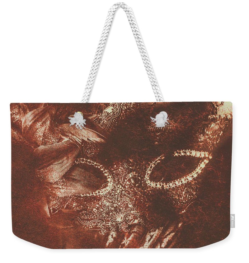 Stage Weekender Tote Bag featuring the photograph Vintage Masquerade by Jorgo Photography - Wall Art Gallery