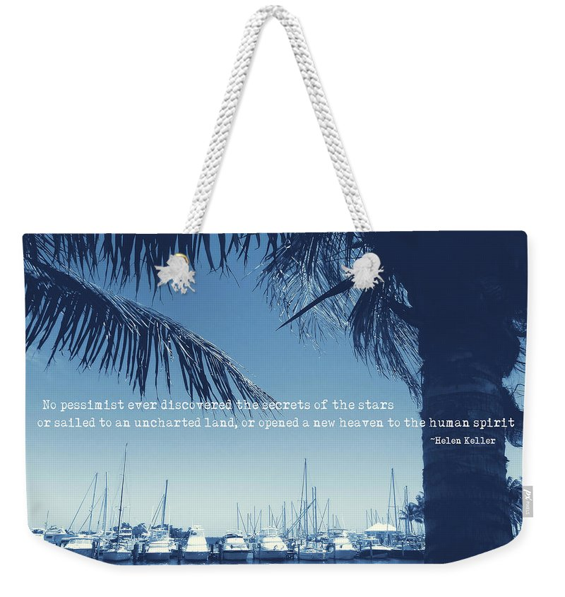 Miami Weekender Tote Bag featuring the photograph Vintage Miami Quote by JAMART Photography