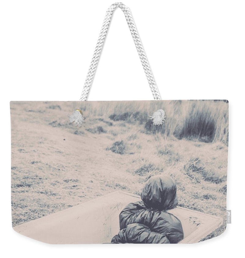 Scary Weekender Tote Bag featuring the photograph Vintage Murders by Jorgo Photography - Wall Art Gallery
