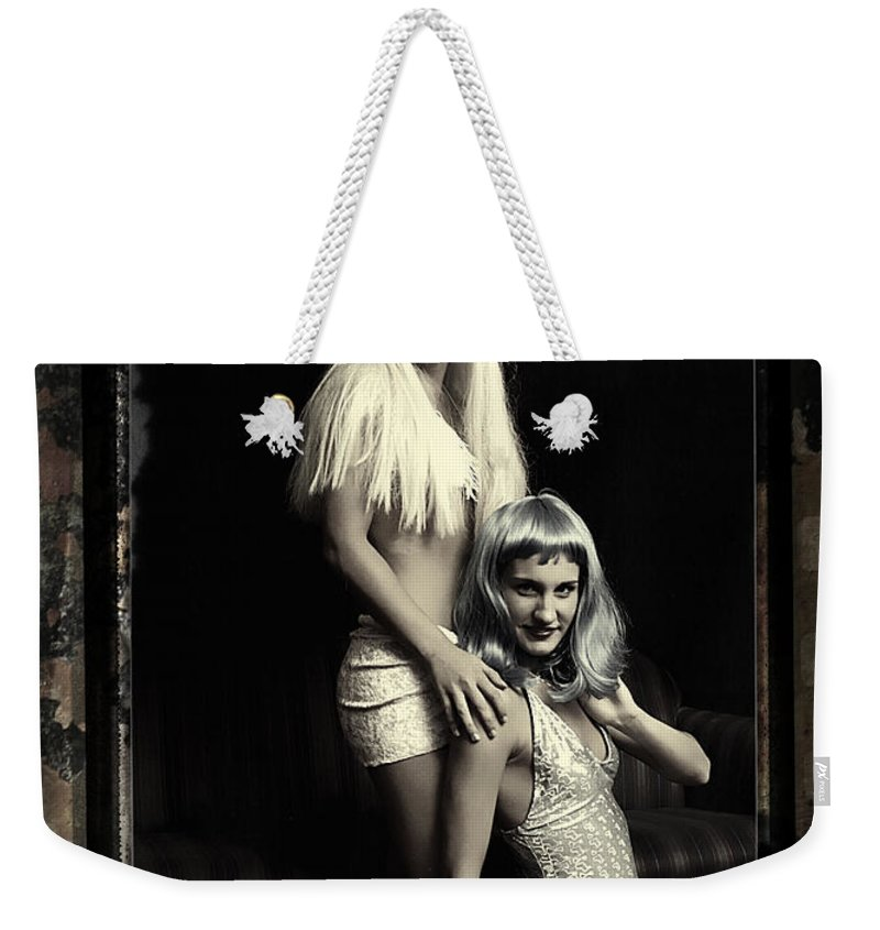 Clay Weekender Tote Bag featuring the photograph Vintage Party Girls by Clayton Bruster