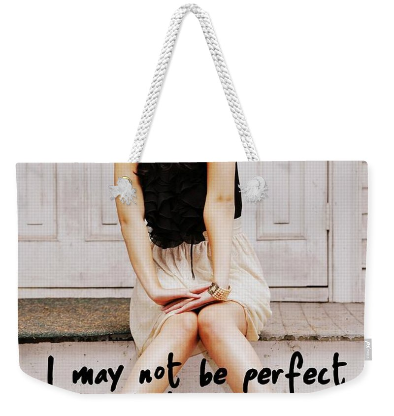 Vintage Weekender Tote Bag featuring the photograph Vintage Poise Quote by JAMART Photography