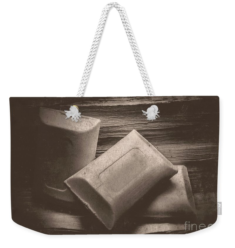 Soap Weekender Tote Bag featuring the photograph Vintage Soap by Jorgo Photography - Wall Art Gallery
