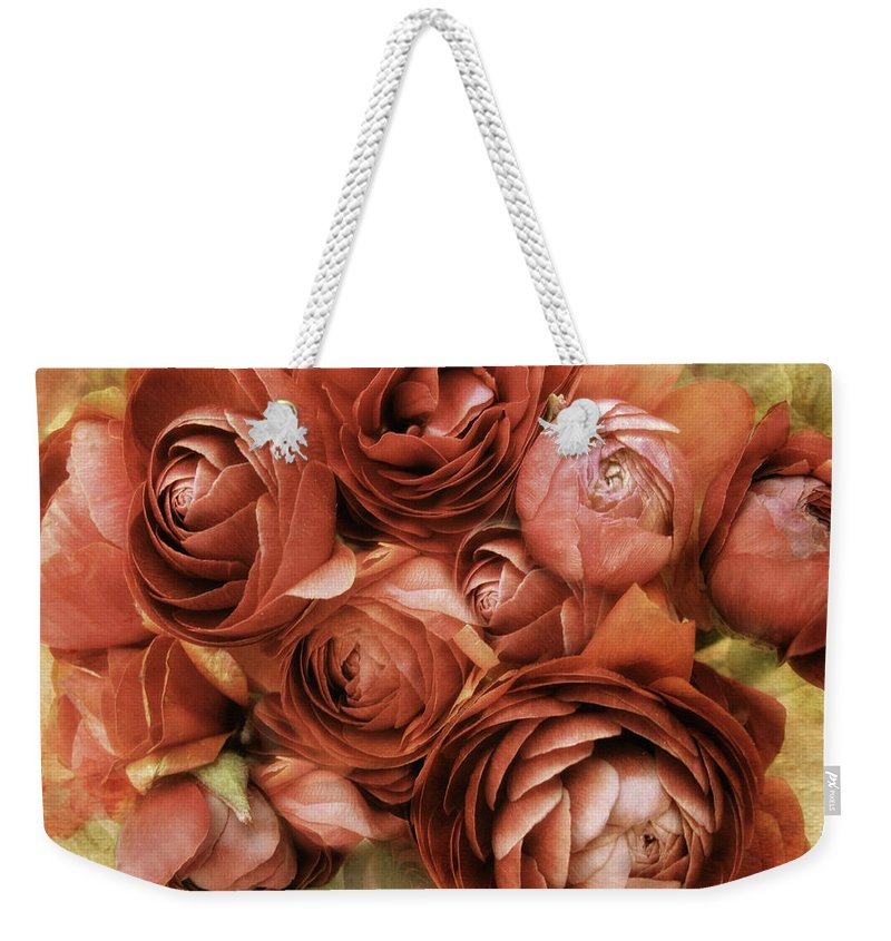 Flowers Weekender Tote Bag featuring the photograph Vintage Spring by Jessica Jenney