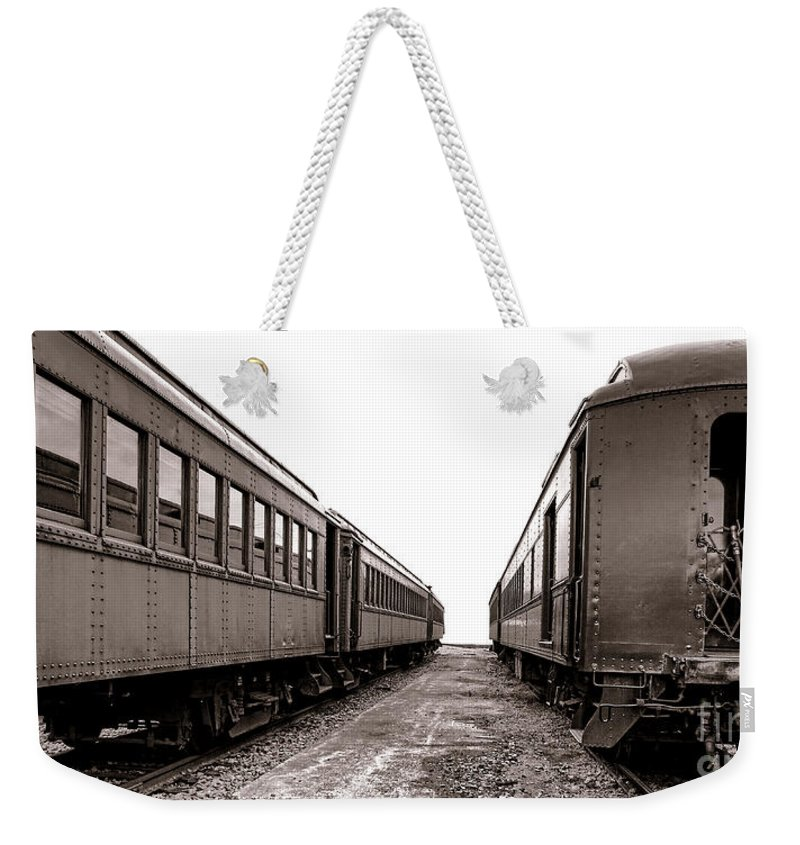 Rail Weekender Tote Bag featuring the photograph Vintage Travel by Olivier Le Queinec