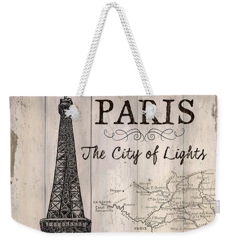 Paris Weekender Tote Bag featuring the painting Vintage Travel Poster Paris by Debbie DeWitt